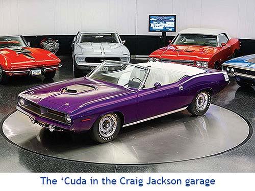 1970 Hemi Cuda Convertible Craig Jackson Garage